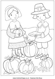 Small Picture Thanksgiving Coloring Pages Activity Village Coloring Pages