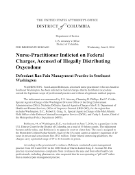 Nurse-Practitioner Indicted on Federal Charges, Accused of Illegally  Distributing Oxycodone