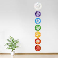 Small Picture Chakra Set Printed Wall Decal
