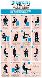 15 exercises you can do at desk in office