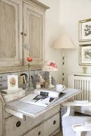 vintage shabby chic inspired office. 18 Fabulous, French-Inspired Home Offices. Shabby Chic Vintage Inspired Office