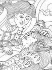 Раскраски спящая красавица спит
