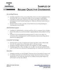 Sample Resume Career Objective Sample Resume Objectives For