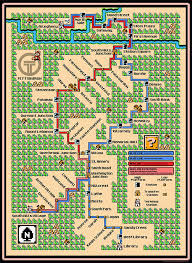 maps of major city subway systems designed in the style of super mario bros