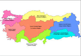 turkey climate map.  Map Turkey Is Geographically Divided Into Seven Regions Marmara Aegean Black  Sea Central Anatolia Eastern Southeastern Anatolia And The  And Climate Map E