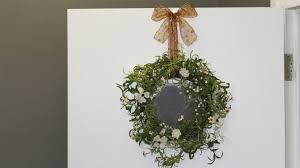 front door wreath hangerDecor Door Wreath Hanger With Ribbon  Bow And Wreath Window