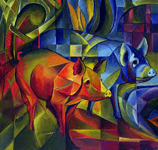 franz marc piggies 1913 art is nothing but the expression of our dream