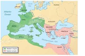 Map Of Western And Eastern Divisions Of Roman Empire Roman