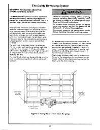craftsman garage door opener troubleshooting safety reversing