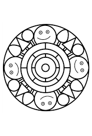 Mandala 090 Coloring Page For Kids
