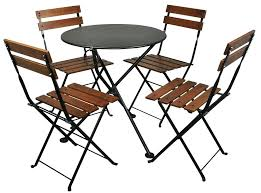 french cafe table and chairs furniture french cafe bistro chestnut wood 5 piece round folding patio