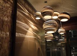 contempory lighting. Interior: Big Round Pendant Lamp Side Small On White Color Ceiling Plus Sleek Contempory Lighting G