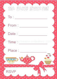 tea party invitations free template tea party invites free cryptoforpak