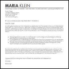 Sample Accounts Receivable Clerk Cover Letter Accounts Receivable Clerk Cover Letter Sample Cover Letter