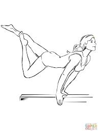 Artistieke Gymnastiek Op De Evenwichtsbalk Kleurplaat Gratis