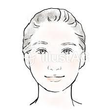 女性の顔 優し気 正面 淡彩イラスト No 1245129無料イラストなら
