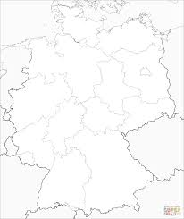Germany Map Coloring Page Printable Blank Berlin Europe Royalty Free