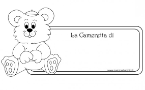 Targa Cameretta Bambini Da Stampare E Colorare Mamma E Bambini