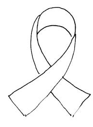Blue Ribbon Template Ribbon Coloring Pages Web Awareness