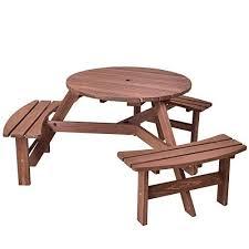 contemporary 6 person patio set new giantex 6 person round picnic table set outdoor