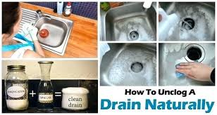 baking soda and vinegar cleaning drains unclog bathroom drains unclog bathroom sink drain baking soda vinegar