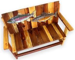 lake cabin furniture. Fish Bench, Trout Lake House Furniture, Angler\u0027s Fisherman Cabin Furniture