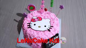 Kekinian Cara Membuat Kue Ulang Tahun Hello Kitty Youtube