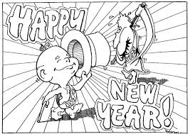 Small Picture Printable Coloring Pages New Years Eve