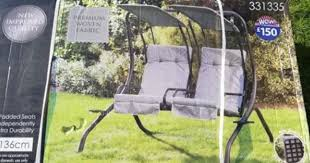 two seater swinging garden chair