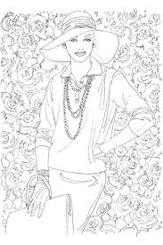Vogue Coloring Book Illustration From Archives