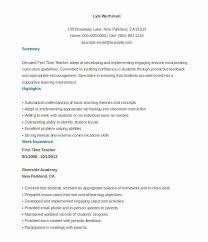 Teacher Brochure Example Teacher Resume Templates Free Fresh Resume Template For Teachers