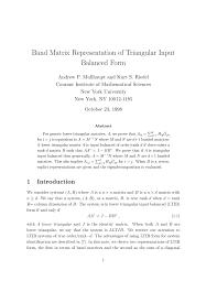 balanced form band matrix representation of triangular pdf download available