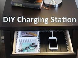 bedside table with charging station. Simple With Nightstand Organization  EASY DIY Charging Station With Bedside Table Station