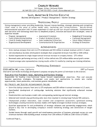 Sales Executive Sample Resume Executive Sales Resume By Career