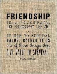 Cs Lewis Quotes On Friendship Cool CS Lewis Friendship Quote Typography Print Birthday Gift For Best
