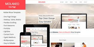 Muse Website Templates Custom 48 Latest Adobe Muse Templates For 48 Collection