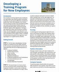 New Employee Training Program Template Employee Training Program Template Shooters Journal