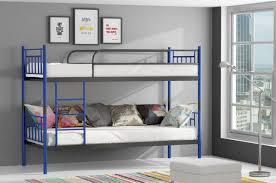 Metallbett Darvin Blau Anthrazit Hochbett In Zwei Einzelbetten Teilbar