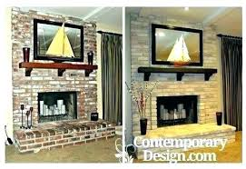 update old fireplace red brick fireplace update old has been painted in grey decorating ideas red