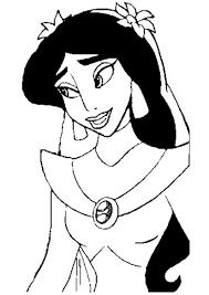 8 Dessins De Coloriage Princesse Jasmine Imprimer