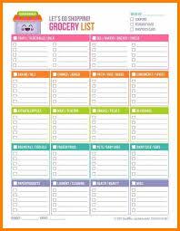 5 Grocery List Spreadsheet Template Plastic Mouldings