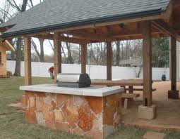 outdoor kitchen thin veneer table saint louis mo