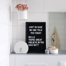 Letterboard Im Bad Für Komplimente Am Morgen Letterboard Sprüche