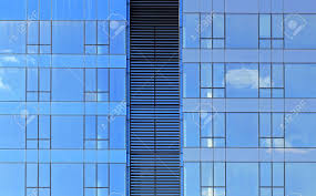 office glass windows. Office Building With Blue Glass Windows Facade Stock Photo - 18156651