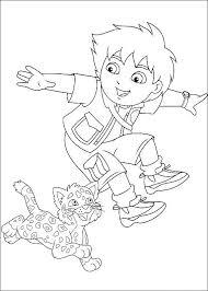 Kids N Funcom Coloring Page Diego Go Diego Go Diego Go Diego Go