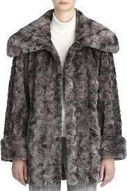 tagr faux fur tiered coat by jones new york
