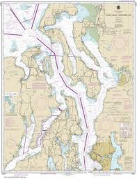 18441 Puget Sound Northern Part Nautical Chart