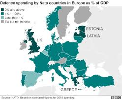 Nato Funding Chart Trump Nato Spending Claims In Dispute Bbc News