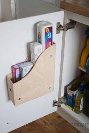 use ikea knuff files as under sink storage holders a file holder