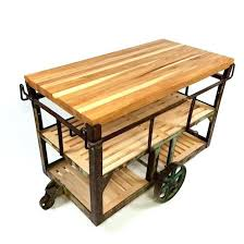 kitchen island cart industrial. Decoration: Industrial Kitchen Island Cart Brilliant Rustic Intended For 4 From E